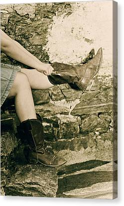 Cowboy Boots Canvas Print by Joana Kruse