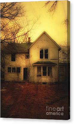 Creepy Abandoned House Canvas Print by Jill Battaglia