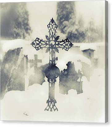 Cross Canvas Print by Joana Kruse