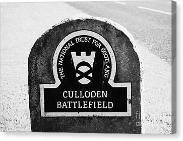 Culloden Moor Battlefield Site Highlands Scotland Canvas Print by Joe Fox