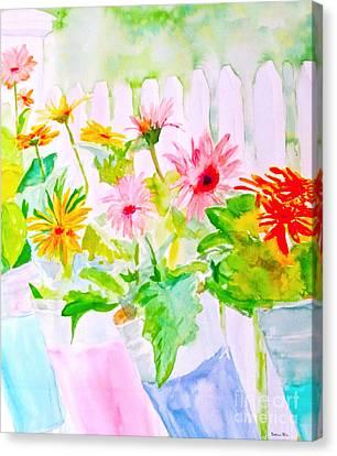 Daisy Daisy Canvas Print by Beth Saffer