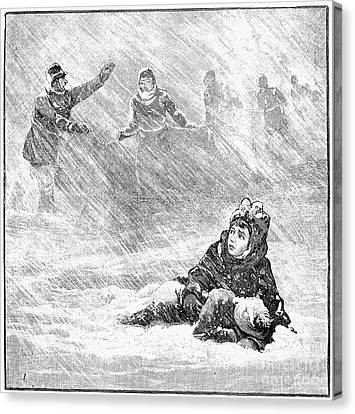 Dakota Blizzard, 1888 Canvas Print by Granger