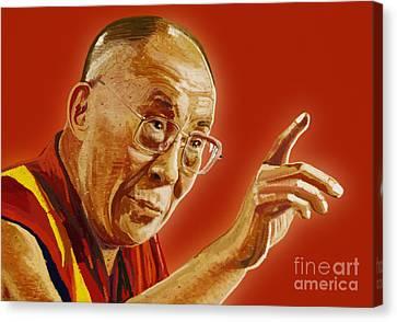Dalai Lama Canvas Print by Setsiri Silapasuwanchai
