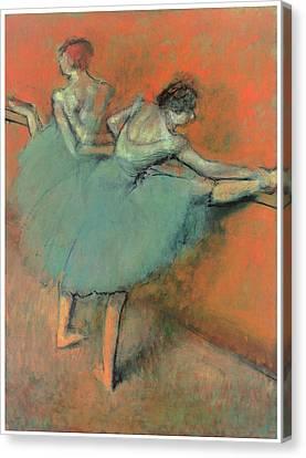 Dancers At The Bar Canvas Print by Edgar Degas