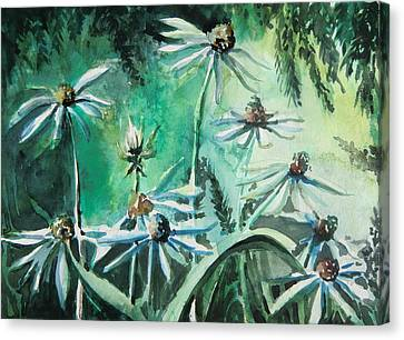Dancing With Daisies Canvas Print by Mindy Newman
