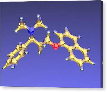 Dapoxetine Premature Ejaculation Drug Canvas Print by Dr Mark J. Winter