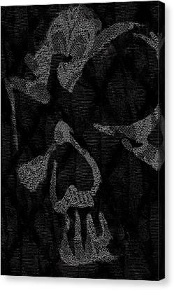 Dark Skull Canvas Print by Roseanne Jones