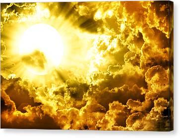 Dark Sky With Sun Canvas Print