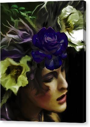 Dark Wood Nymph Canvas Print by Jill Balsam