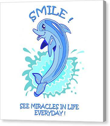 Darla The Dolphin Canvas Print by John Keaton