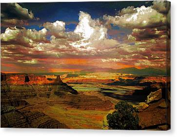 Dead Horse Point Canyon Canvas Print by Carrie OBrien Sibley