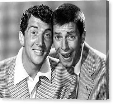 Dean Martin And Jerry Lewis, C. Early Canvas Print by Everett
