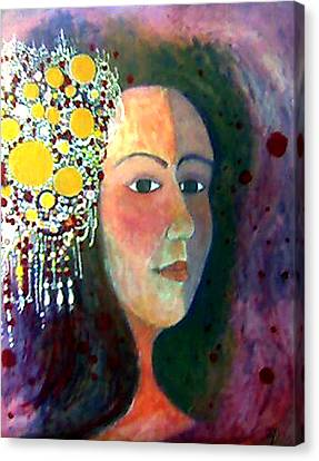 Canvas Print featuring the painting Debutante by Monica Furlow