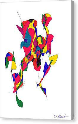 Definism Design 10 Canvas Print by Darrell Black