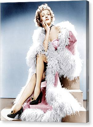 Destry Rides Again, Marlene Dietrich Canvas Print by Everett