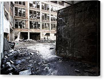 Detroit Abandoned Buildings Canvas Print by Joe Gee