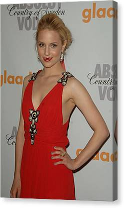 Dianna Agron At Arrivals For 21st Canvas Print
