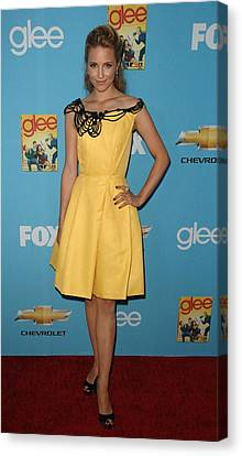 Dianna Agron Wearing A Carolina Herrera Canvas Print by Everett