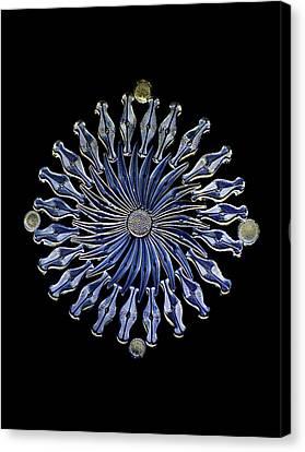 Diatoms, Light Micrograph Canvas Print by Frank Fox