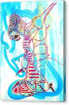 Dinka Angel Bride - South Sudan Canvas Print by Gloria Ssali