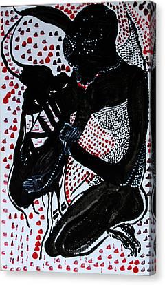 Dinka Bride Canvas Print - Dinka Bride by Gloria Ssali