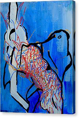 Dinka Dance Canvas Print - Dinka Corset - Manlual - South Sudan by Gloria Ssali