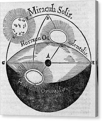 Distortion Of The Sun, 17th Century Canvas Print by Middle Temple Library