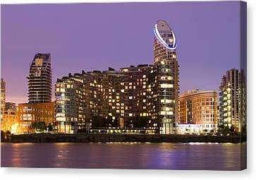 Citi Canvas Print - Docklands Apartments by David French