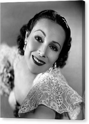 Dolores Del Rio, 1934 Canvas Print by Everett