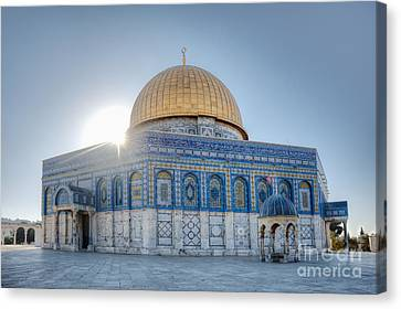 Dome Of The Rock Canvas Print by Noam Armonn