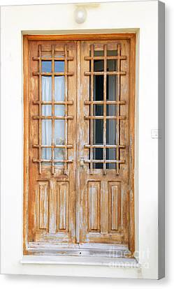 Doors In Greece Canvas Print by Maria Varnalis