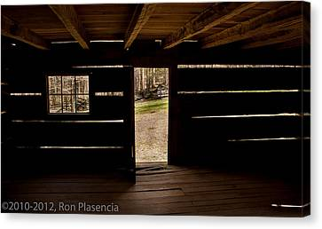 Doorway To The Past Canvas Print by Ron Plasencia