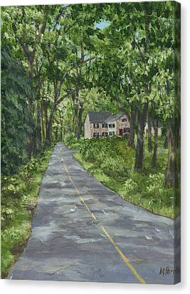 Down A Country Road Canvas Print