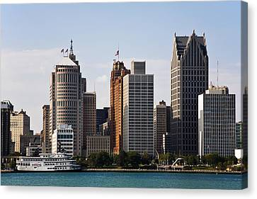 Downtown Detroit Canvas Print by James Marvin Phelps