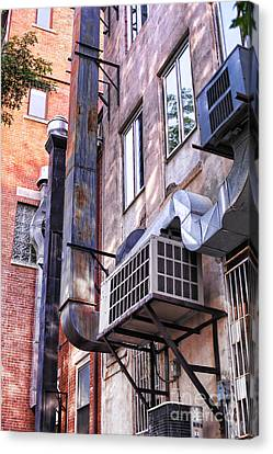 Downtown Northampton - Alley Canvas Print