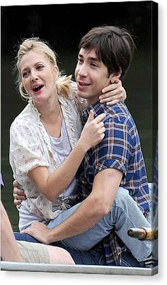 Drew Barrymore, Justin Long On Location Canvas Print