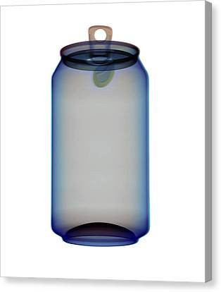 Drinks Can X-ray Canvas Print by D. Roberts