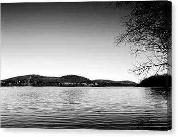 Dryden Lake New York Canvas Print by Paul Ge