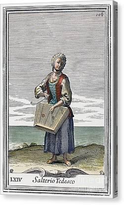 Dulcimer, 1723 Canvas Print by Granger