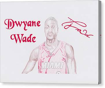 Dwyane Wade Canvas Print by Toni Jaso