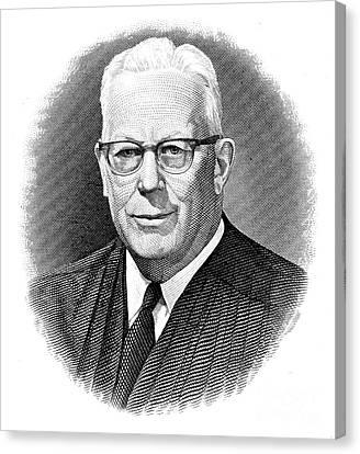 Earl Warren (1891-1974) Canvas Print by Granger