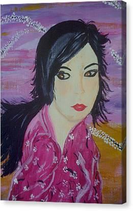 Eastern Beauty Canvas Print by Judi Goodwin