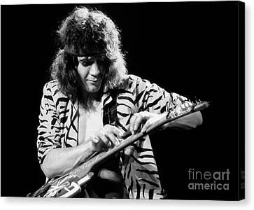 Van Halen Canvas Print - Eddie Van Halen 1984 by Chris Walter
