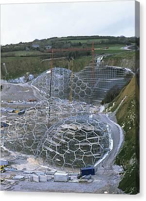 Eden Project Construction Canvas Print