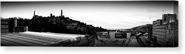 Edinburgh Station Panorama Canvas Print