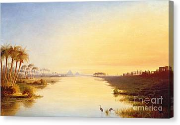 Egyptian Oasis Canvas Print by John Williams