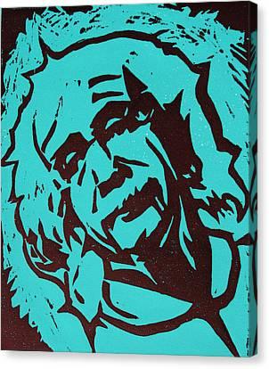 Lino Canvas Print - Einstein 2 by William Cauthern