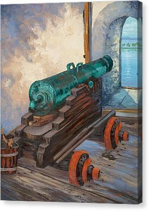 El Morro Cannon  Canvas Print by M J Weber