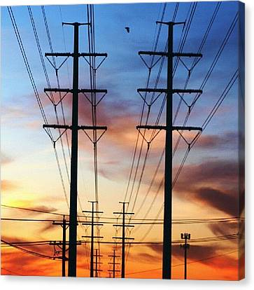 Electric Sunset Canvas Print by James Granberry