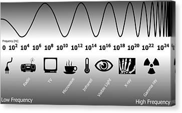 Electromagnetic Spectrum Canvas Print